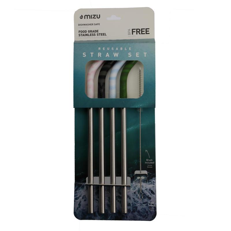 MIZU Straw Set (4 color)