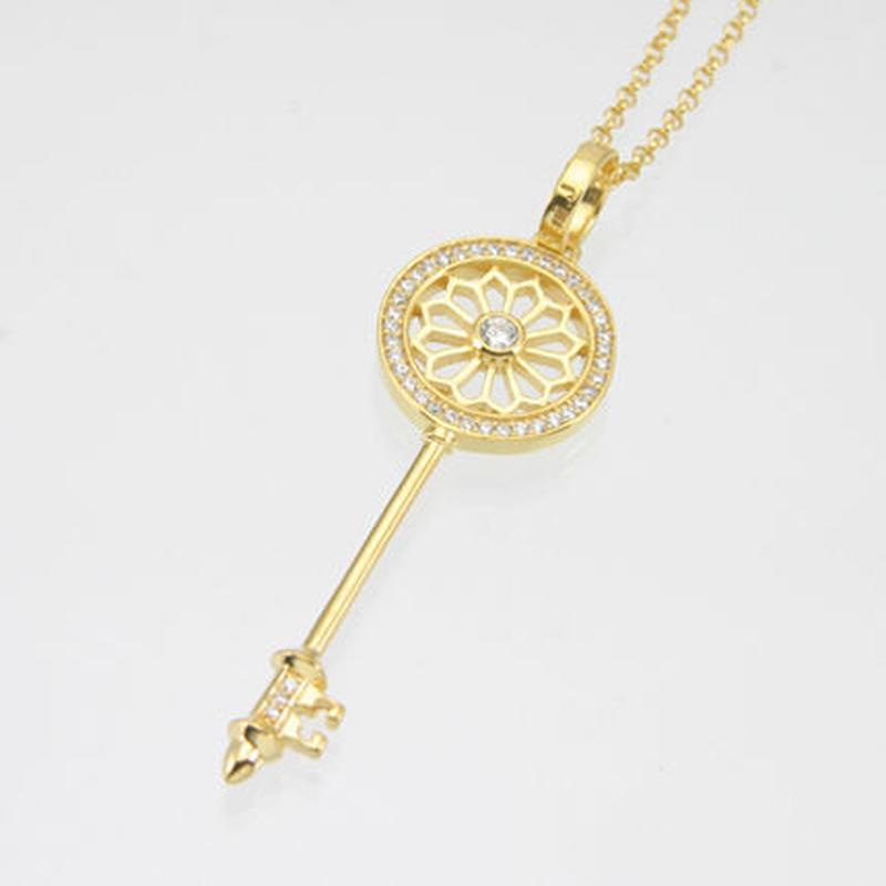 エムジェー[m.J][正規販売店][ネックレス][necklace][MJP-01GPCZ]デフィキーペンダント ゴールドプレート w/クリアCZ