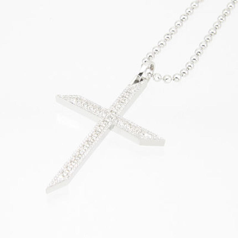 エムジェー[m.J][正規販売店][ペンダント][pendant][MJP-03CZW]ルミエールクロスペンダント