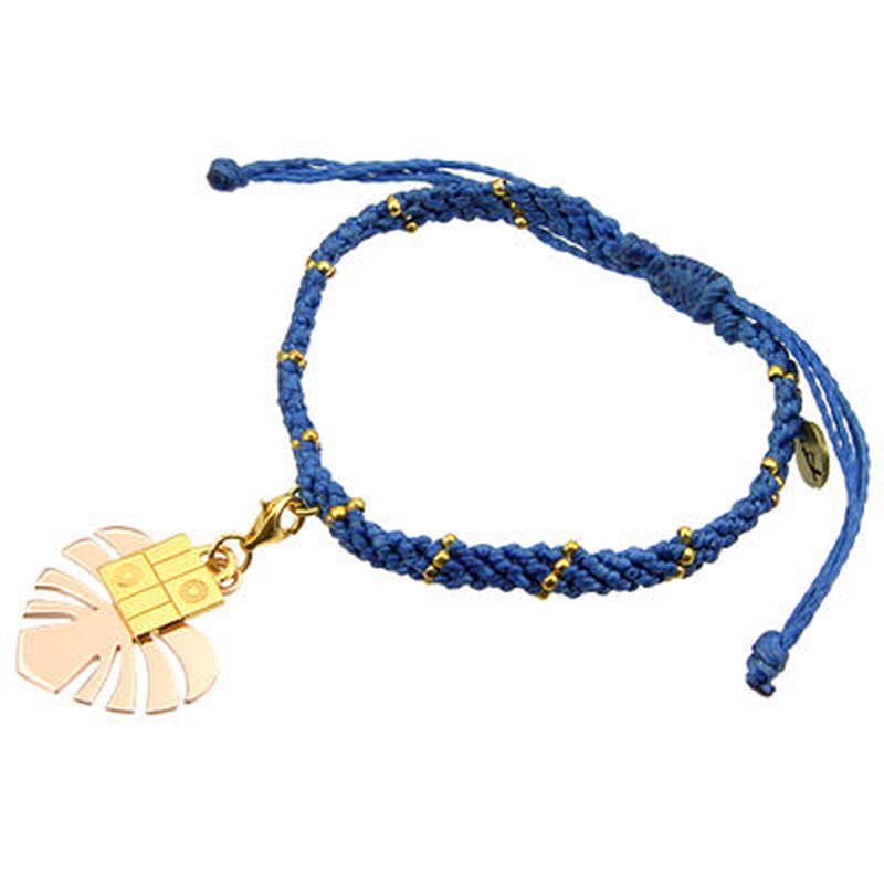 ワカミ[Wakami]ブレスレット 正規販売店 MJWAB-01BL ハートリーフブレスレット ブルー HEART LEAF BRACELET