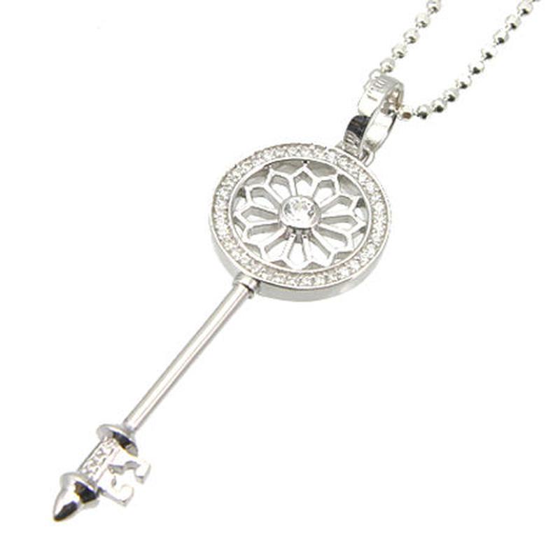 エムジェー[m.J][正規販売店][ネックレス][necklace][MJP-01CZ]デフィキーペンダント w/クリアーCZ[DEFI KEY PENDANT w/CLEAR CZ]