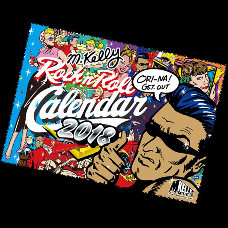 M.ケリー ロックンロール・カレンダー 2018
