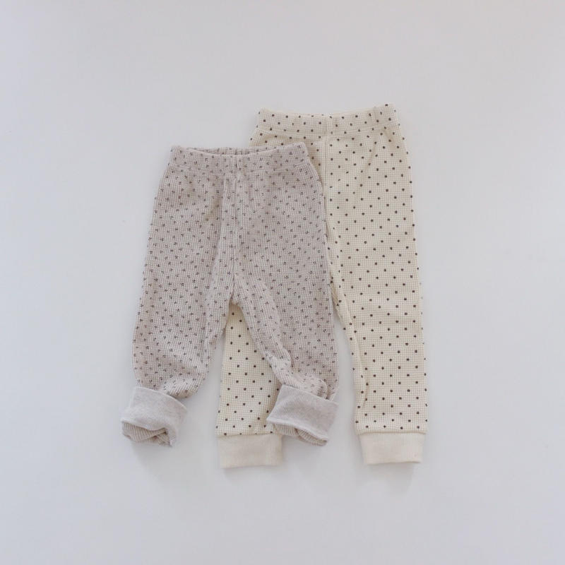 pattern waffle leggings