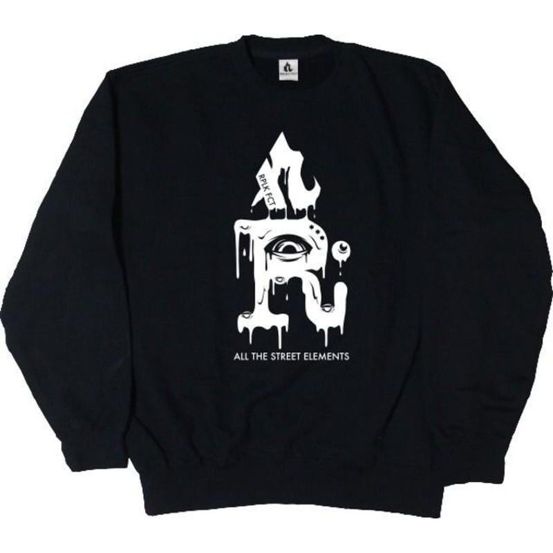 EYES LOGO crew black
