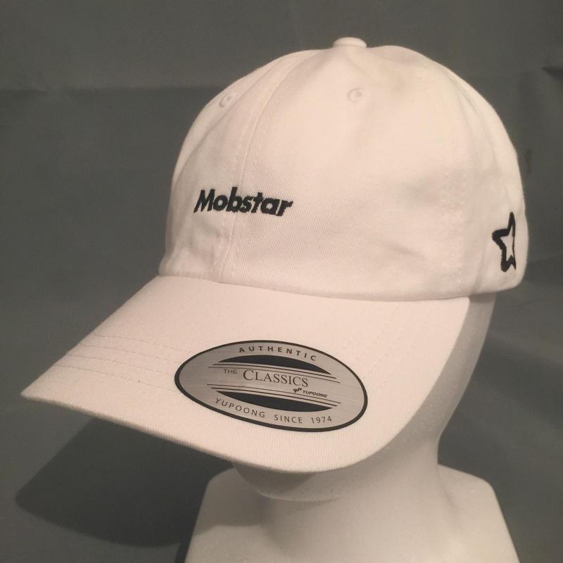 mobstar cap  vintage style     white