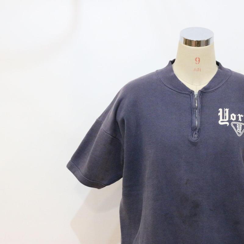 60's 半袖ハーフジップスウェット [324b]