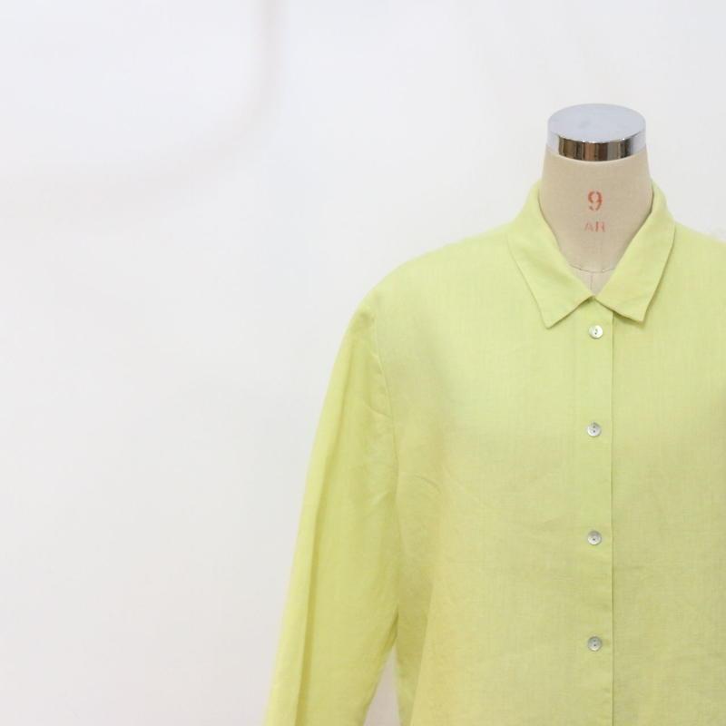 オープンカラーリネンシャツ [393]