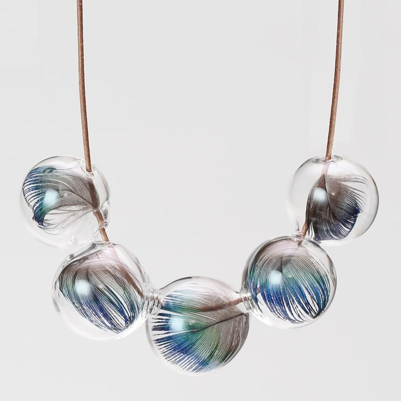 Ornament glass Necklace [GFN-2]