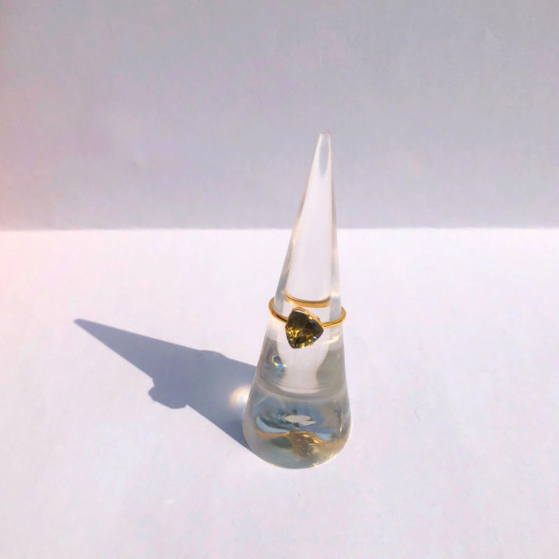 Yellow Spinel Ring