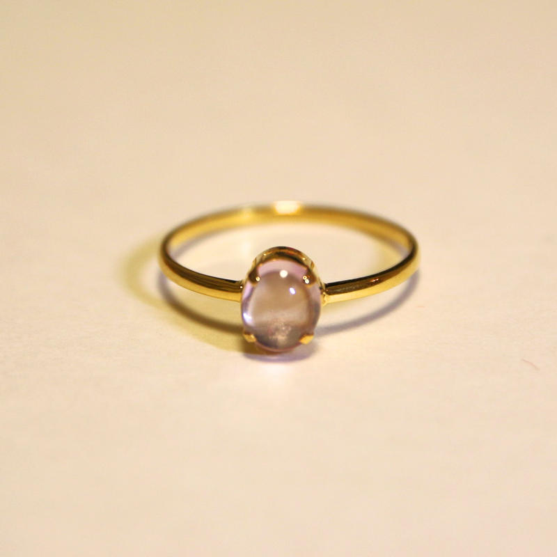 Peach Spinel Ring