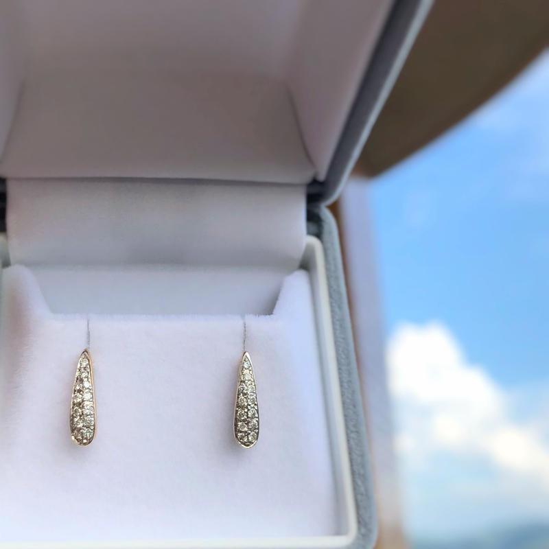 Drop Diamond Earrings