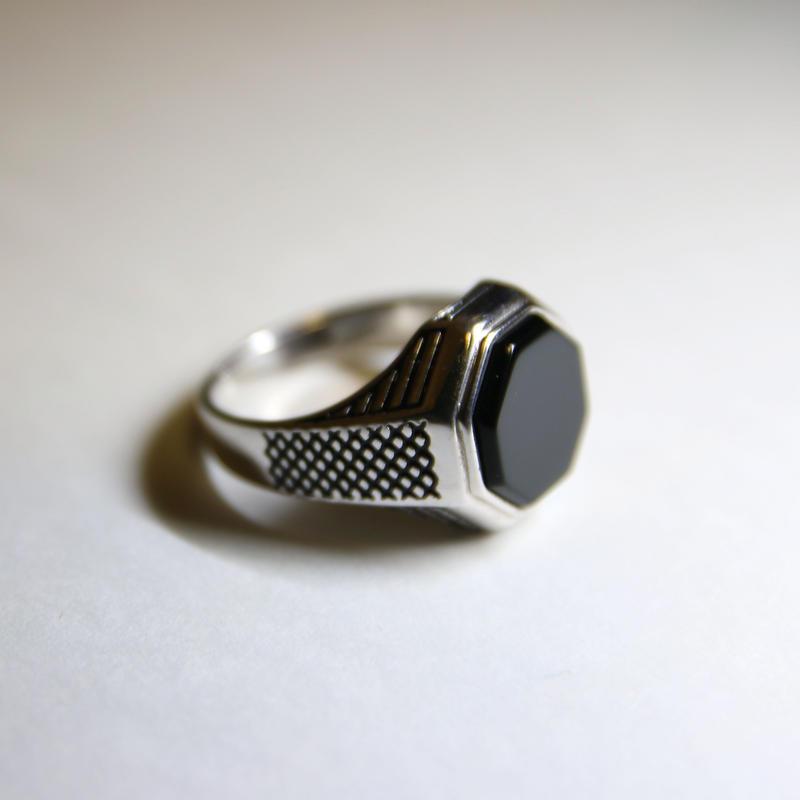Onyx Silver Ring(Unisex)