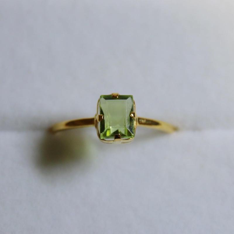 Leaf Spinel Ring