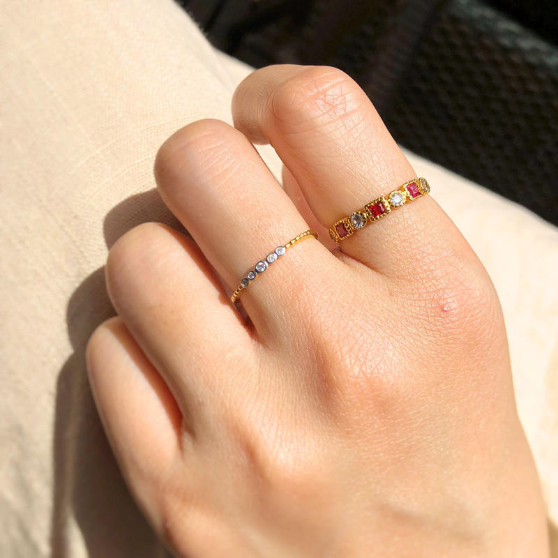 Red & White Sapphire Ring