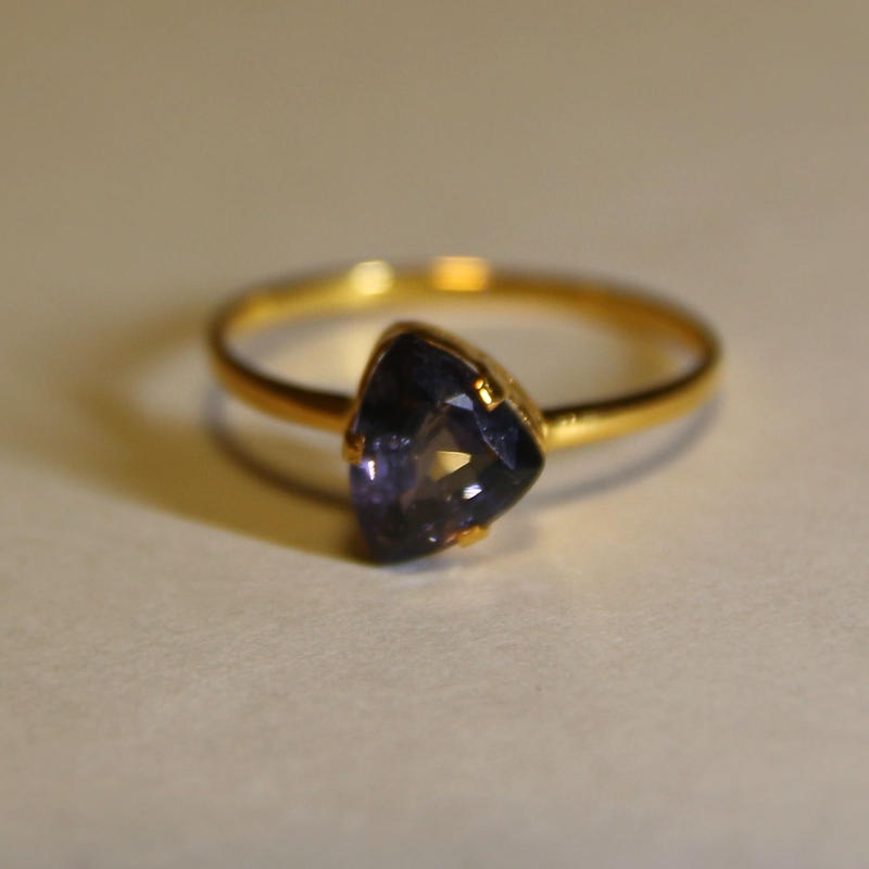 Pansy Spinel Ring
