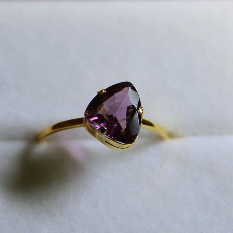 Plum Spinel Ring