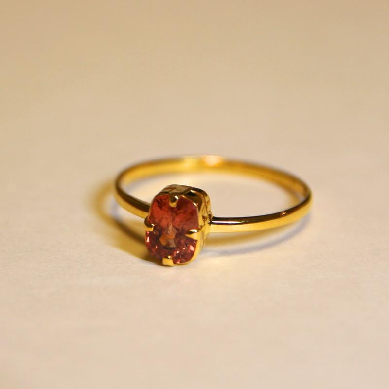 Scarlet Spinel Ring