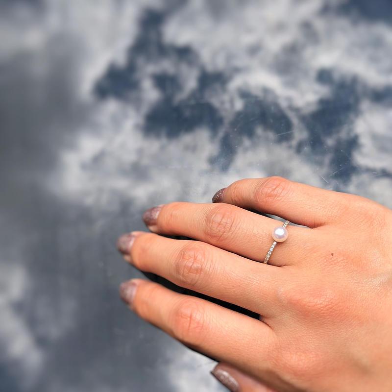 Pearls & Diamond Ring