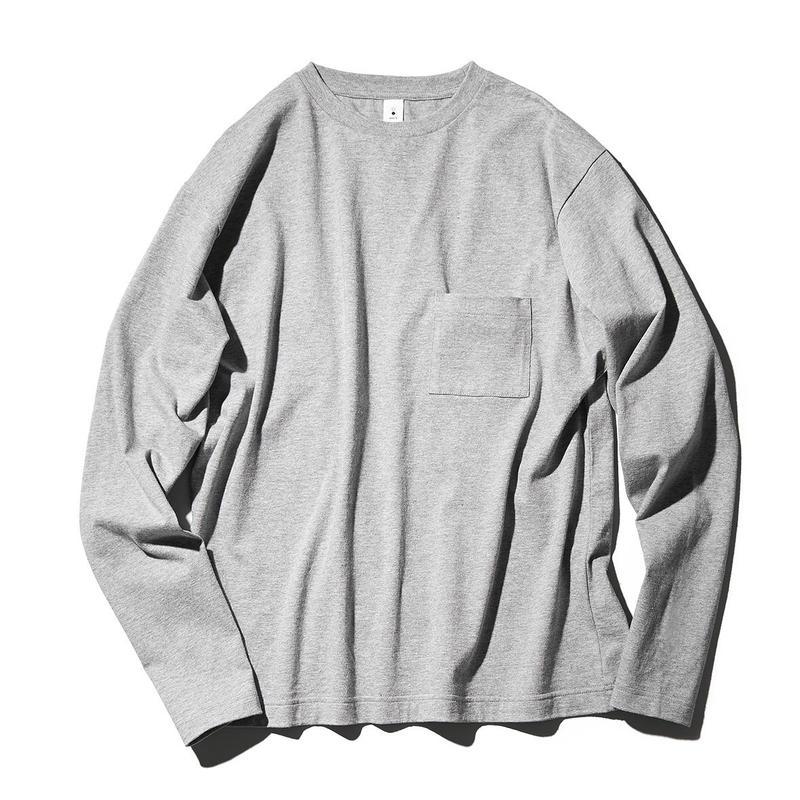 Crew Neck Poket Long T-shirts(JS030)