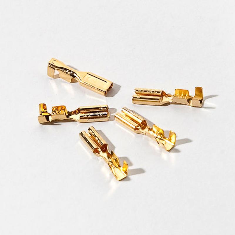 24金メッキ ファストン端子 5個セット 新品