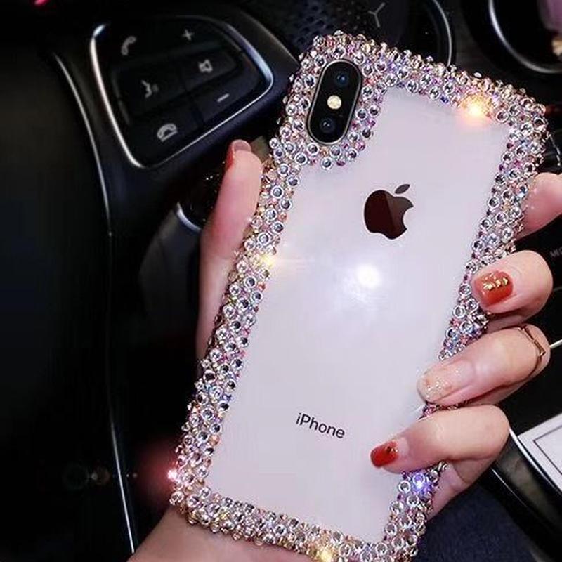 キラキラしたおしゃれデコ iphoneXS/XS MAXケース 綺麗クリア携帯ケース GIRLSにおすすめ  超人気