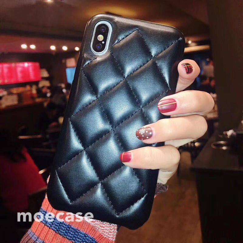 革製 iphoneXS/XS MAXケース ひし形iphoneXRカバー 持ちやすい 可愛い ペア携帯ケース 黒赤