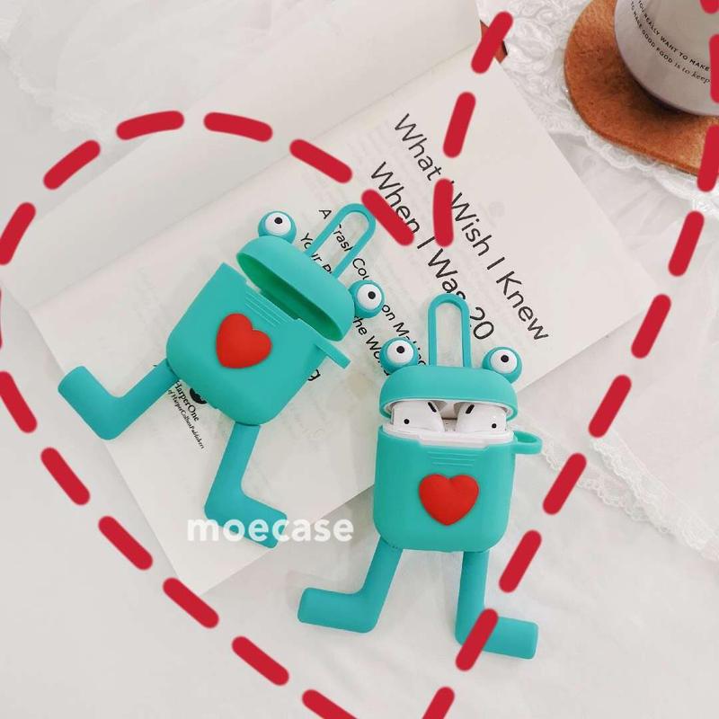 airpodsケース カエルデザイン 可愛い  エアポッドケース  女子に大人気 萌える