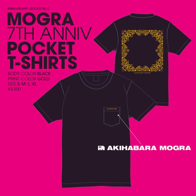 【再入荷】MOGRA 7th Anniv. Pocket T-Shirts (Black & Gold) [M-004]