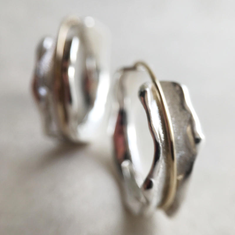 with me ring 【silver × gold】