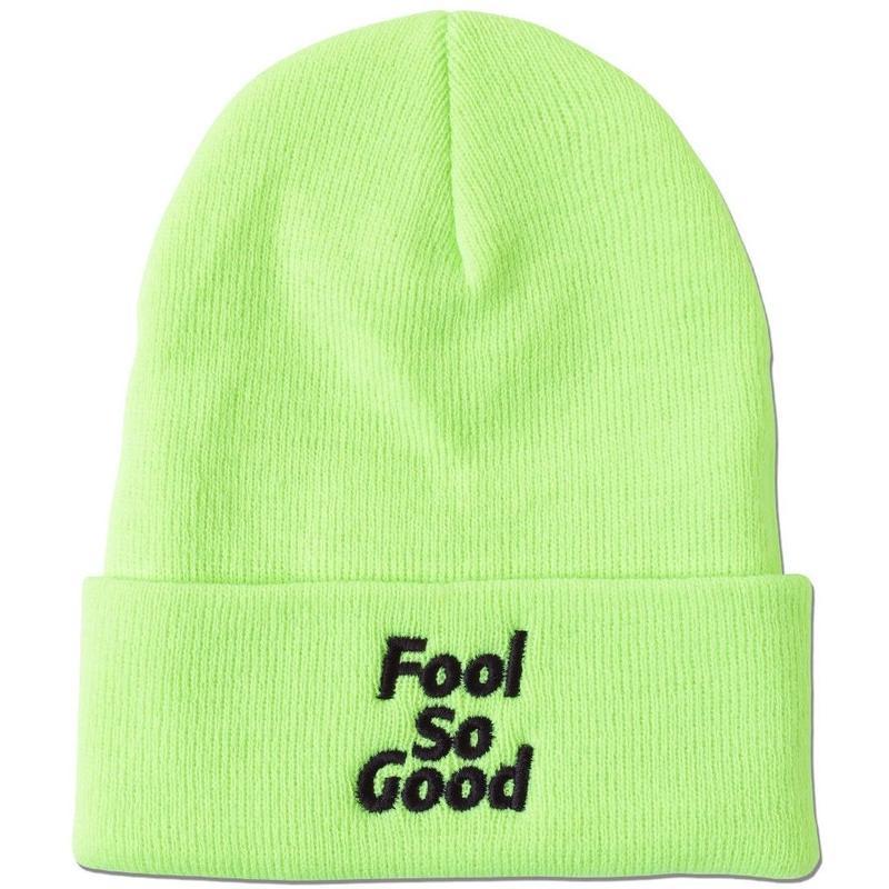 """""""Fool So Good""""  Cuffed Knit Beanie(Neon)"""