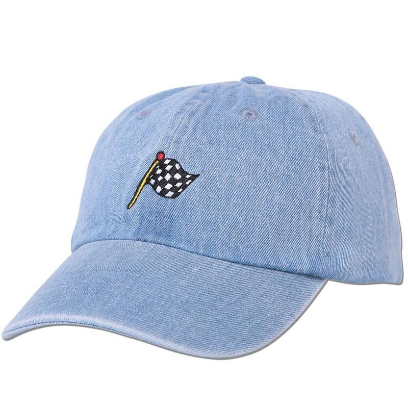 """""""Checkered Flag"""" Curve Visor Low Cap"""