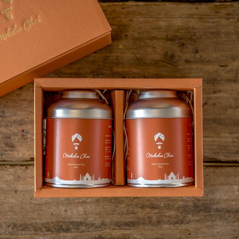 Moksha Chai 80g Spiced Tea for Gift/モクシャチャイギフトセット