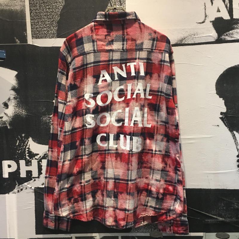 ANTI SOCIAL SOCIAL CLUB PSY RED FLANNEL