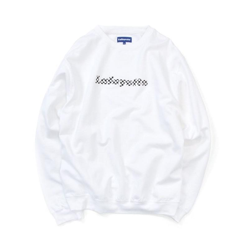 【MOLLY別注】MOLLY CHECKER LOGO CREWNECK SWEATSHIRT White