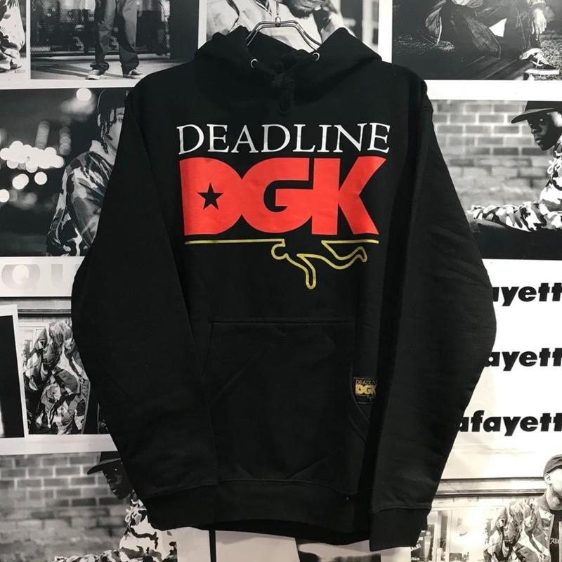 DGK × DEADLINE HOODED【BLACK】