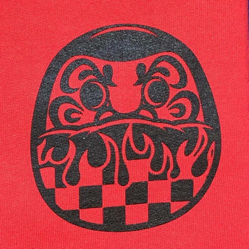 MOLLY FLAME DARUMA CREWNECK SWEATSHIRT (RED)