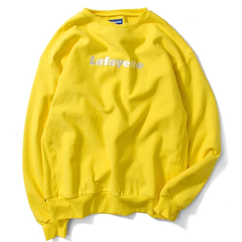 Lafayette LOGO US COTTON CREW NECK SWEATSHIRT (YELLOW)