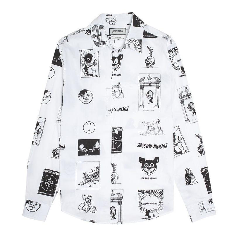 Fucking Awesome Cut Outs Dress Shirt (WHITE)