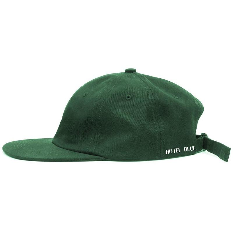 HOTEL BLUE Side Logo Hat (Dark Green)