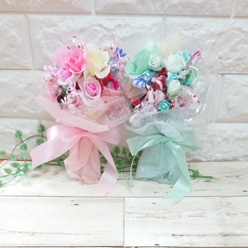 お花いっぱい♡幸せのキャンディブーケ( ティファニーブルー &ピンク)