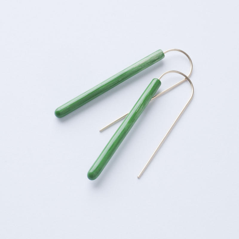 LAYER/POLE Earring Long Green