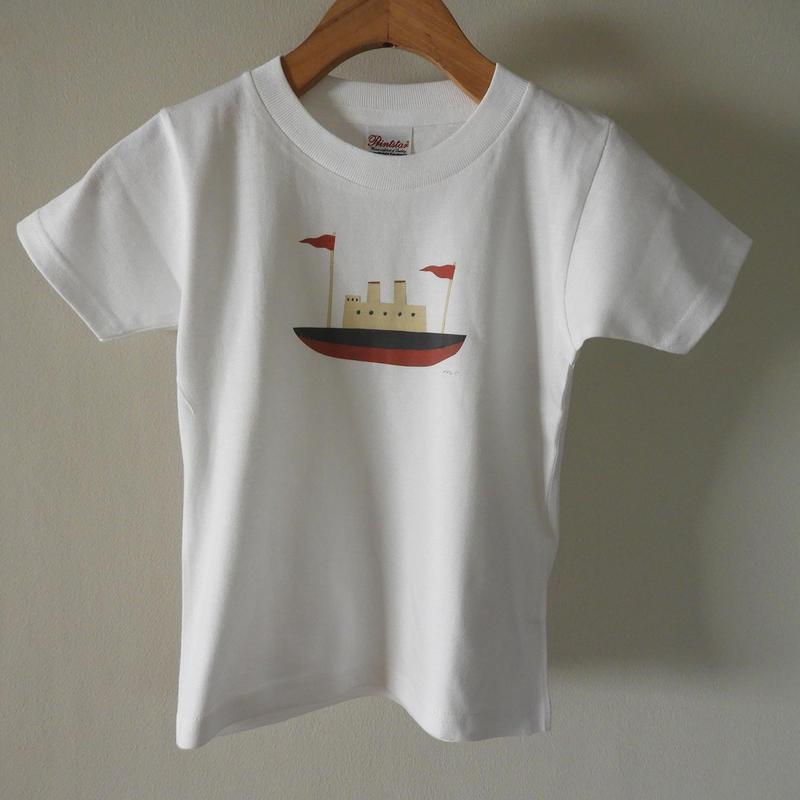 kodomo t-shirts「boat_red」size110