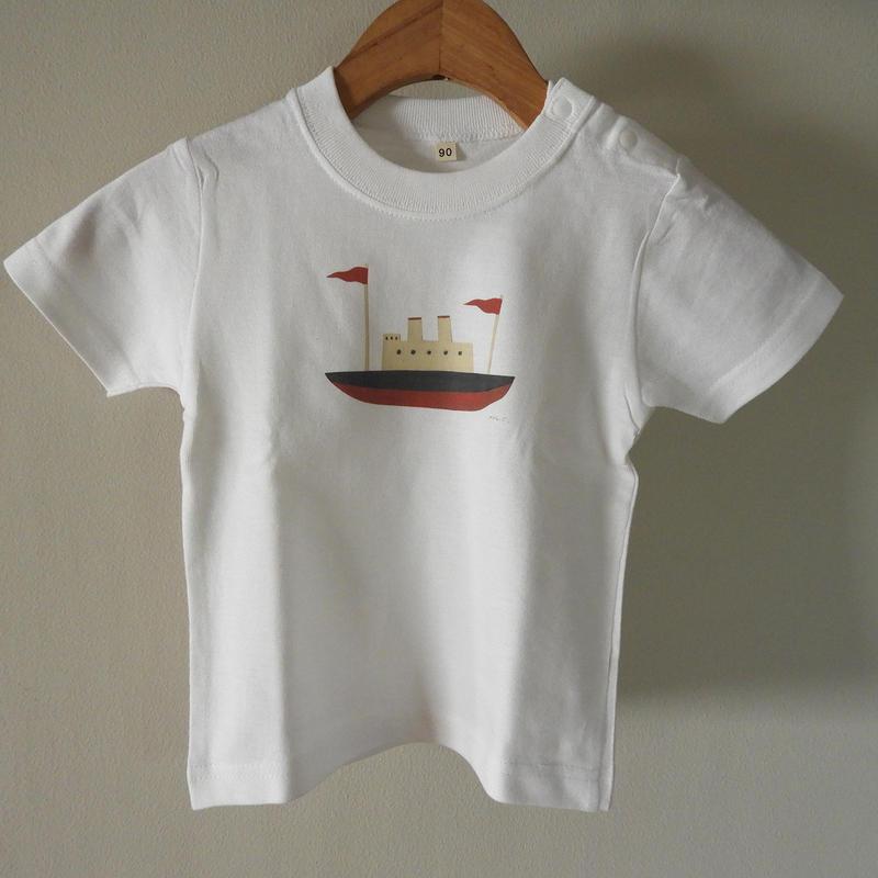 kodomo t-shirts「boat_red」size90