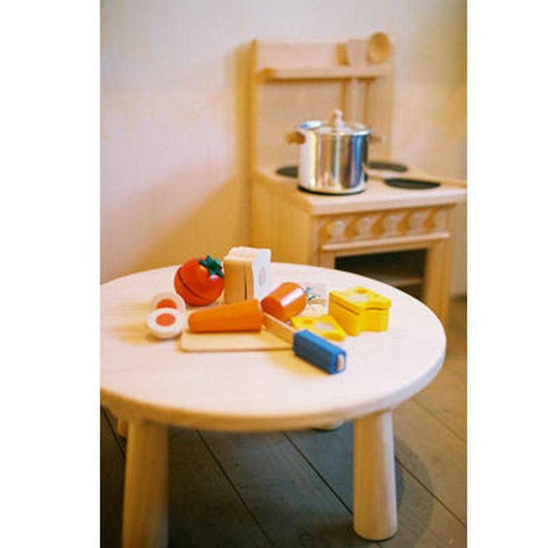〈1才半-7才〉【ままごと/子どもの家具】木遊舎 ちゃぶ台(小)