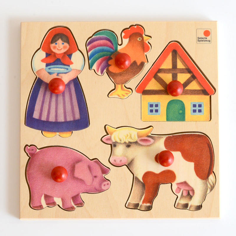〈1才-2才〉【はじめてのパズル】グライフパズル・農場(5ピース)