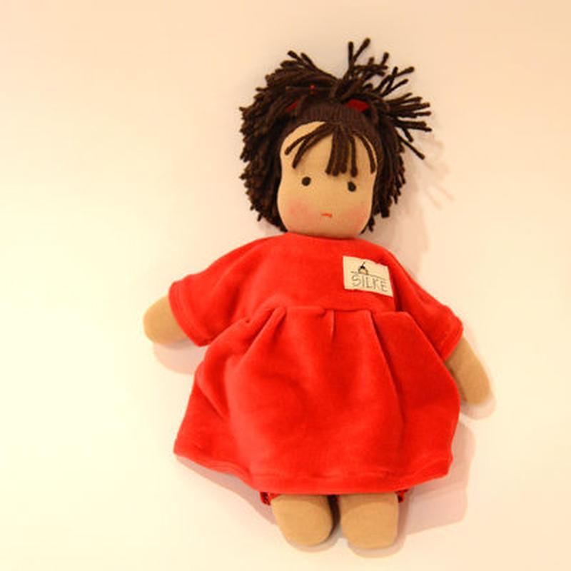 〈2才-〉【人形/布製】ロッテちゃん・赤