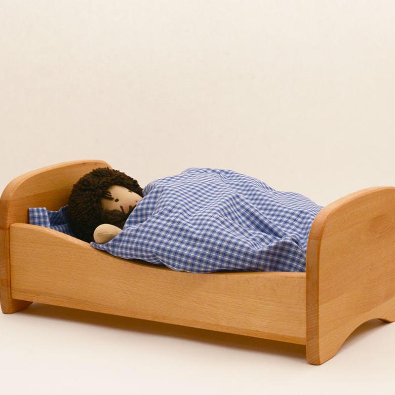 〈2才-7才〉【人形遊び用ベッド】ノルベルト 木製ベッド