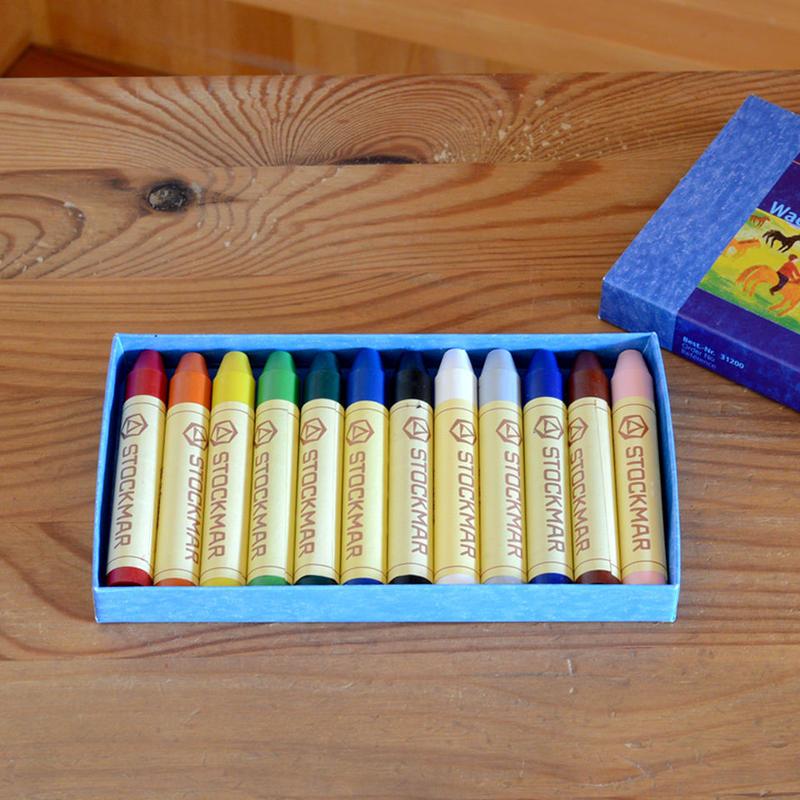 〈2才-〉【クレヨン】みつろうスティッククレヨン 12色紙箱