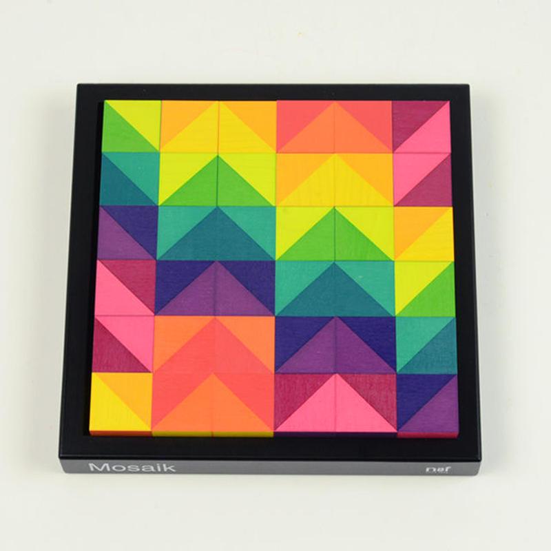 〈5才-〉【色・形の構成遊び玩具】キーナーモザイク(小)