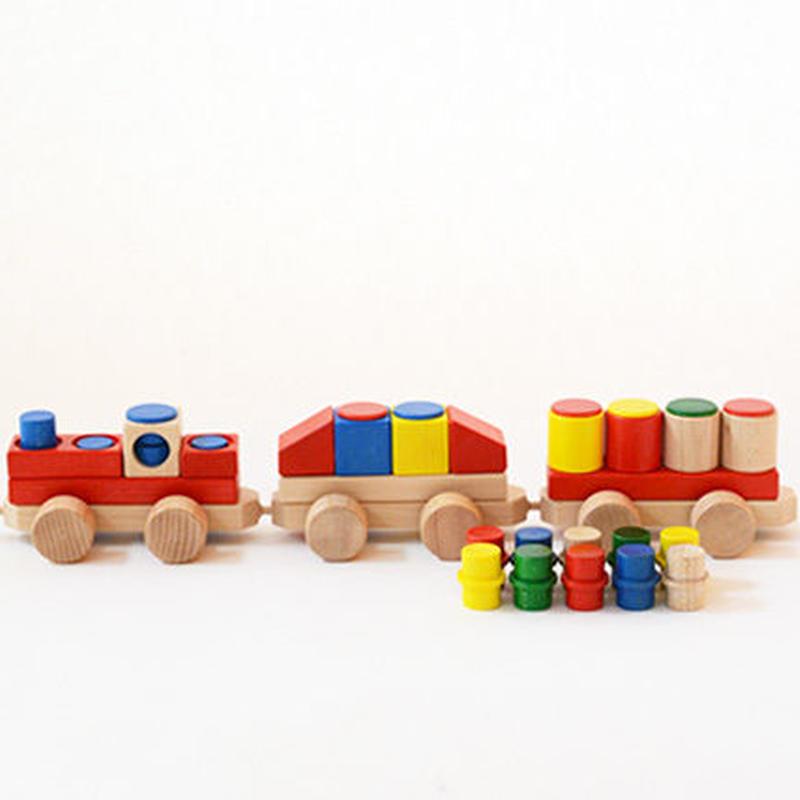 〈1才-〉【ジョイント式積木】CUBIO 汽車3両